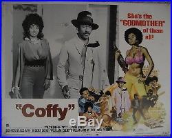 US Set 8 Lobby Card Original Movie poster COFFY All Black LCs Pam Grier 1973 VF
