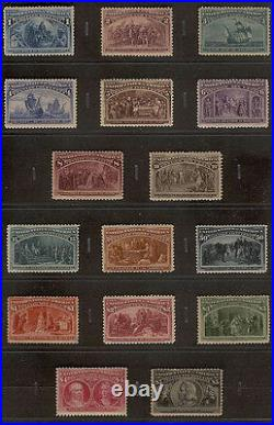 Us #230 245 Complete Original Columbian Mint Stamp Set (all 16 Issues) 1893
