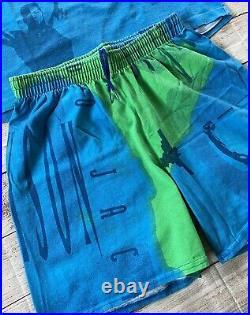 VTG Nike Bo Jackson T-Shirt Shorts Set All Over Print Jordan Single Stitch USA