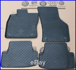 VW Golf 7 Fußmatten Gummimatten Satz Set vorne hinten MK7 Gummifußmatten GTI GTD