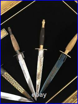 Very Rare Wilkinson Sword WW2 Collection Six Knives Original Set same SN for all
