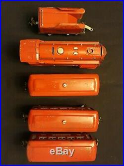 Vintage 1936 Lionel Pre War 264e Red Comet Passenger Set 2 603 604 All Original