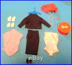 Vintage-1959-1960-Barbie-Commuter Set-#916-A Complete Set-All Original