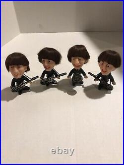 Vintage 1964 Remco Beatles Dolls Complete Set With Instruments All Original