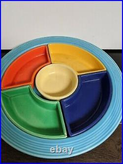 Vintage Fiestaware Homer Laughlin Relishtray 6 Piece Set All Original Colors