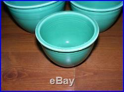 Vintage Homer Laughlin Fiesta Mixing Bowls set of 1 thru 7 All Original Green