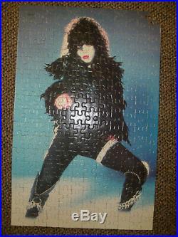Vintage KISS Aucoin Set of all 4 1978 Milton Bradley MB Puzzles complete