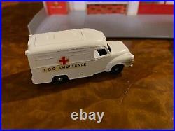 Vintage Matchbox All Original Fire Station Gift Set with 4 Cars No. G-10