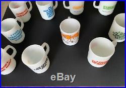 Vintage Snoopy FireKing Mug Set All 10 Original Mugs! 1958-1965