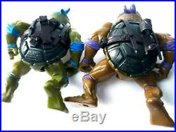Vtg 1988 Tmnt Lot All 4 Original Soft Head Turtles 100% Complete Set