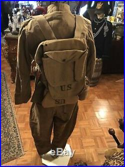 WW1 Corporal Uniform and Great Combat Set of Field Gear, Halmet all Original