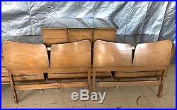 Walnut Mid-century Modern Vintage King Bedroom Set All Wood