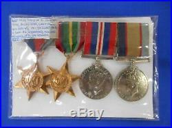 Ww2 Set 4 Genuine War Medals R. Good All Impressed