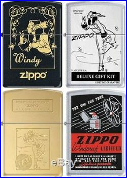 Zippo Windy Girl 20 Lighter Set RARE All Lighters Are New in Original Packaging